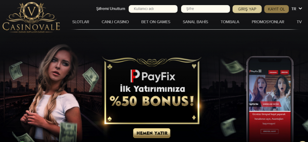 Casinovale Giriş